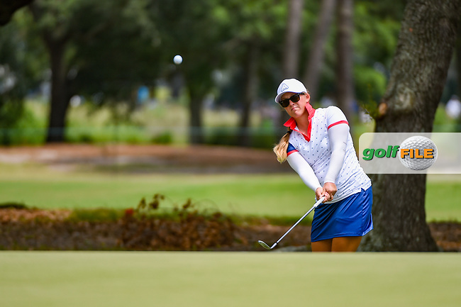 Marissa Steen (USA) chips on to 1 during round 2 of the 2019 US Women's Open, Charleston Country Club, Charleston, South Carolina,  USA. 5/31/2019.<br /> Picture: Golffile | Ken Murray<br /> <br /> All photo usage must carry mandatory copyright credit (© Golffile | Ken Murray)