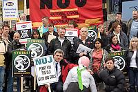 BBC Pensions Strike Mailbox Birmingham 5th Nov 2010