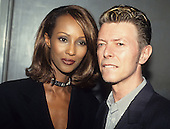 DAVID BOWIE and IMAN - New York City NY USA - April 1995.  Photo credit: Al Pereira/Cache/Dalle/IconicPix  **UK ONLY** **NO WEBSITES**