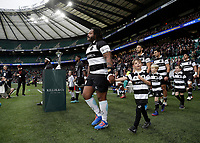 16th November 2019; Twickenham, London, England; International Rugby, Barbarians versus Fiji; Mathieu Bastareaud of Barbarians walks onto the pitch from the tunnel - Editorial Use