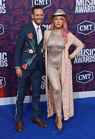 NASHVILLE, TENNESSEE - JUNE 05: Meghan Linsey, Tyler Cain attend the 2019 CMT Music Awards at Bridgestone Arena on June 05, 2019 in Nashville, Tennessee. <br /> CAP/MPI/IS/NC<br /> ©NC/IS/MPI/Capital Pictures