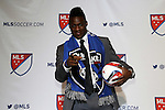 15 January 2015: Fatai Alashe (Michigan State) was selected fourth overall by the San Jose Earthquakes. The 2015 MLS SuperDraft was held at the Pennsylvania Convention Center in Philadelphia, Pennsylvania.