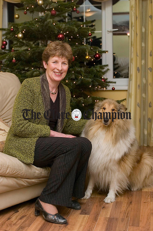 Mary Duggan at home in Bridgetown with her dog Princess. Photograph by John Kelly.