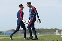 JT   Marcinkowski, Matt Turner of the United States warms up during a drill