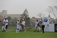 Paul McGinley (IRL) tees off the 6th tee during Saturay's Round 3 of the 2014 BMW Masters held at Lake Malaren, Shanghai, China. 1st November 2014.<br /> Picture: Eoin Clarke www.golffile.ie