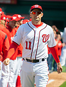 Washington Nationals first baseman Ryan Zimmerman (11) is introduced prior to the game against the New York Mets at Nationals Park in Washington, D.C. on Thursday, April 5, 2018.  The Mets won the game 8-2.<br /> Credit: Ron Sachs / CNP<br /> (RESTRICTION: NO New York or New Jersey Newspapers or newspapers within a 75 mile radius of New York City)