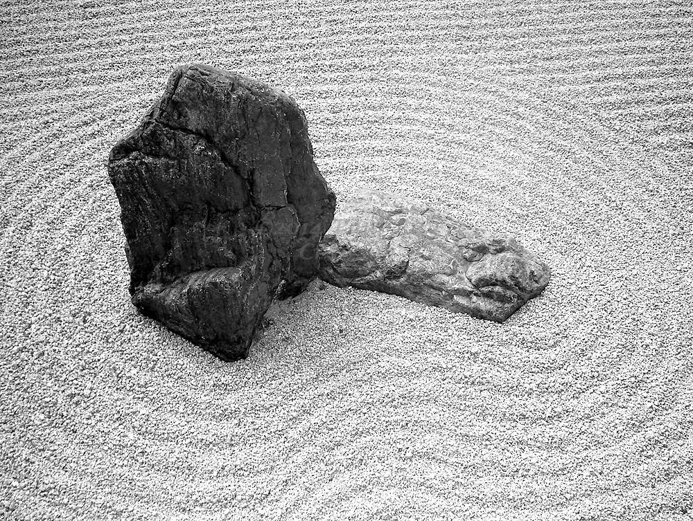 Leaping Tiger - rock in Zen garden at Nanzen-ji