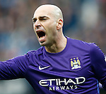 Wilfredo Caballero of Manchester City during the Barclays Premier League match at The Etihad Stadium. Photo credit should read: Simon Bellis/Sportimage