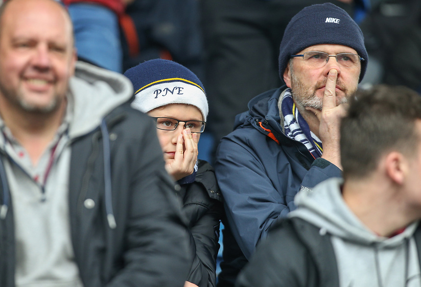Preston North End fans take their seats before the match<br /> <br /> Photographer Alex Dodd/CameraSport<br /> <br /> The EFL Sky Bet Championship - Huddersfield Town v Preston North End - Friday 14th April 2016 - The John Smith's Stadium - Huddersfield<br /> <br /> World Copyright &copy; 2017 CameraSport. All rights reserved. 43 Linden Ave. Countesthorpe. Leicester. England. LE8 5PG - Tel: +44 (0) 116 277 4147 - admin@camerasport.com - www.camerasport.com
