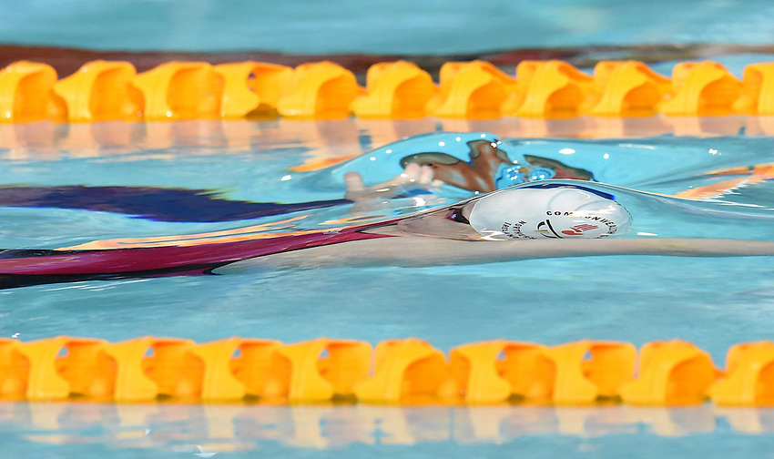 Northern Ireland's Danielle Hill competes in the women's 100m backstroke swim-off<br /> <br /> Photographer Chris Vaughan/CameraSport<br /> <br /> 20th Commonwealth Games - Day 2 - Friday 25th July 2014 - Swimming - Tollcross International Swimming Centre - Glasgow - UK<br /> <br /> © CameraSport - 43 Linden Ave. Countesthorpe. Leicester. England. LE8 5PG - Tel: +44 (0) 116 277 4147 - admin@camerasport.com - www.camerasport.com
