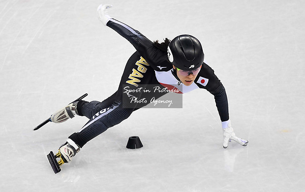 Sumire Kikuchi (JPN). Short track. Gangneung ice arena. Pyeongchang2018 winter Olympics. Gangneung. Republic of Korea. 10/02/2018. ~ MANDATORY CREDIT Garry Bowden/SIPPA - NO UNAUTHORISED USE - +44 7837 394578