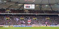 FUSSBALL   1. BUNDESLIGA  SAISON 2012/2013   9. Spieltag   VfB Stuttgart - Eintracht Frankfurt      28.10.2012 VfB Fans mit einem Banner; VfB Fans fuer den Erhalt der Fankultur - gegen das DFL - Massnahmenpapier!