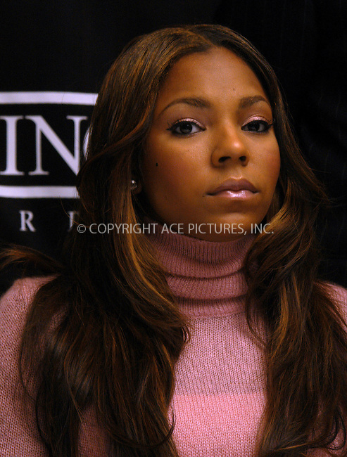 Ashanti attended a press conference to announce the record label Murder Inc will now be known as THE INC. New York City. December 03 2003 Please byline: AJ SOKALNER/NY Photo Press.   ..*PAY-PER-USE*      ....NY Photo Press:  ..phone (646) 267-6913;   ..e-mail: info@nyphotopress.com