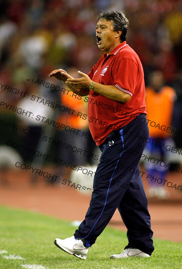 Fudbal, UEFA Champions League third qualifying round, second leg.Crvena Zvezda (Red Star) Vs. Glasgow Rangers.head coach Milorad Kosanovic.Belgrade, 28.08.2007..foto: Srdjan Stevanovic