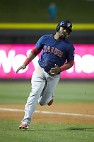 Kyri Washington (21) of the Salem Red Sox rounds third base during the game against the Winston-Salem Dash at BB&T Ballpark on April 20, 2018 in Winston-Salem, North Carolina.  The Red Sox defeated the Dash 10-3.  (Brian Westerholt/Four Seam Images)