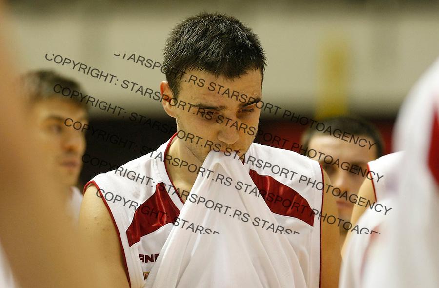 Kosarka, NLB League, sezona 2009/2010.Crvena Zvezda Vs. Hemofarm (Vrsac).Tadija Dragicevic, center, react.Belgrade, 05.12.2009..foto: Srdjan Stevanovic/Starsportphoto ©