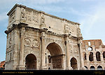 Arch of Constantine 315 AD South side with Colosseum Via Triumphalis Rome