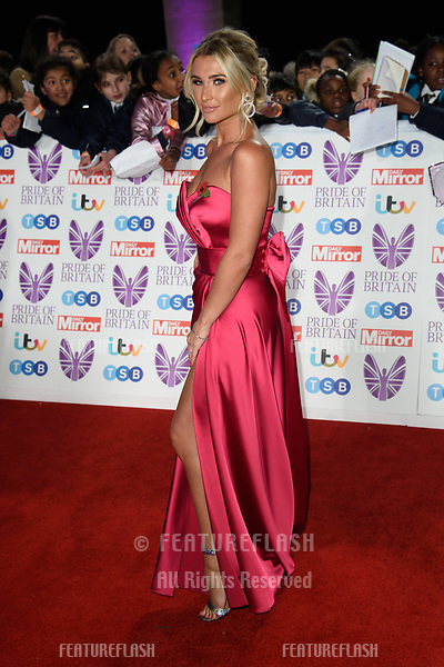 LONDON, UK. October 29, 2018: Billie Faiers at the Pride of Britain Awards 2018 at the Grosvenor House Hotel, London.<br /> Picture: Steve Vas/Featureflash