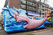 Düsseldorf, Germany. 27 February 2017. Float against xenophobia. Carnival parade on Shrove Monday (Rosenmontag) in Düsseldorf, North Rhine-Westphalia, Germany.