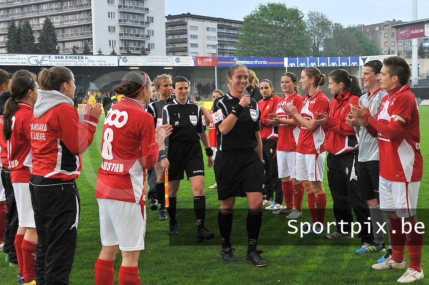 Bekerfinale 2012 : WD Lierse SK - Standard Femina :.Scheidsrechter: Sharon Sluyts.foto David Catry / Joke Vuylsteke / Vrouwenteam.be