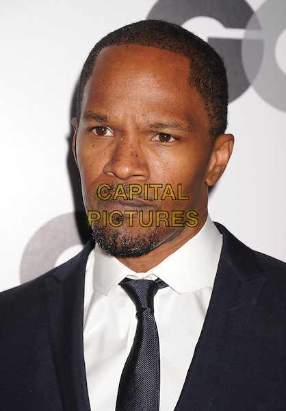 Jamie Foxx.Arriving at the GQ Men Of The Year Party at Chateau Marmont Hotel in Los Angeles, California, USA..November 13th, 2012.headshot portrait white shirt blue tie suit goatee facial hair .CAP/ROT/TM.©Tony Michaels/Roth Stock/Capital Pictures