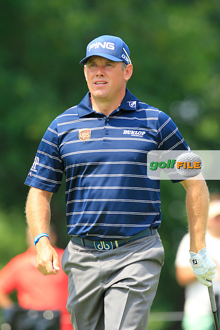 Lee WESTWOOD (ENG) tees off the 14th tee during Friday's Round 2 of the WGC Bridgestone Invitational, held at the Firestone Country Club, Akron, Ohio.: Picture Eoin Clarke, www.golffile.ie: 1st August 2014