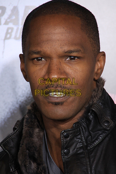 "JAMIE FOXX .The Overature Film L.A. Premiere of ""Law Abiding Citizen"" held at The Grauman's Chinese Theater in Hollywood, California, USA. .October 6th, 2009 .headshot portrait brown grey gray mouth open jaime facial hair moustache mustache soul patch.CAP/ADM/TC.©T. Conrad/AdMedia/Capital Pictures."