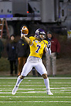SALEM, VA - DECEMBER 16:  Blake Jackson (7) of the University of Mary Hardin-Baylor throws against the University of Wisconsin-Oshkosh during the Division III Men's Football Championship held at Salem Stadium on December 16, 2016 in Salem, Virginia.   Mary Hardin-Baylor defeated the University of Wisconsin-Oshkosh 10-7 for the national title. (Photo by Don Petersen/NCAA Photos via Getty Images)