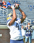CHARLOTTESVILLE, VA, OCT 15: The Pitt football travels to take on Virginia at Scott Stadium in Charlottesville, Virginia on October 15, 2016.<br /> Photographer: Pete Madia/Pitt Athletics