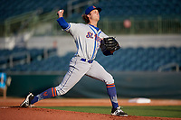 St. Lucie Mets starting pitcher Gabriel Llanes (22) delivers a pitch during a game against the Florida Fire Frogs on April 19, 2018 at Osceola County Stadium in Kissimmee, Florida.  St. Lucie defeated Florida 3-2.  (Mike Janes/Four Seam Images)