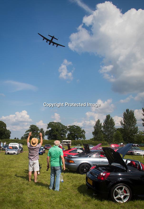 03/06/18<br /> <br /> Lancaster bober flypast at Toyota MR2 Day at Hatton Country World, Warwickshire.<br /> <br /> All Rights Reserved: F Stop Press Ltd. +44(0)1335 344240  www.fstoppress.com.