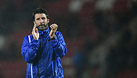 Lincoln City manager Danny Cowley applauds the fans at the end of the game<br /> <br /> Photographer Chris Vaughan/CameraSport<br /> <br /> The Carabao Cup First Round - Rotherham United v Lincoln City - Tuesday 8th August 2017 - New York Stadium - Rotherham<br />  <br /> World Copyright &copy; 2017 CameraSport. All rights reserved. 43 Linden Ave. Countesthorpe. Leicester. England. LE8 5PG - Tel: +44 (0) 116 277 4147 - admin@camerasport.com - www.camerasport.com