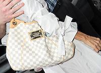 NEW YORK, NY - SEPTEMBER 6, 2012: Close up of Susan Lucci's bag at Good Day New York in New York City. September 6, 2012. © RW/MediaPunch Inc. /NortePhoto.com<br /> <br /> **CREDITO*OBLIGATORIO** *No*Venta*A*Terceros*<br /> *No*Sale*So*third* ***No*Se*Permite*Hacer...<br /> more »