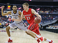 Washington, DC - March 10, 2018: Davidson Wildcats forward Peyton Aldridge (23) drives to the basket during the Atlantic 10 semi final game between St. Bonaventure and Davidson at  Capital One Arena in Washington, DC.   (Photo by Elliott Brown/Media Images International)