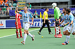 The Hague, Netherlands, June 15: Matias Paredes #10 of Argentina celebrates after scoring a field goal to give Argentina a 1-0 lead during the field hockey bronze match (Men) between Argentina and England on June 15, 2014 during the World Cup 2014 at Kyocera Stadium in The Hague, Netherlands. Final score 2-0 (0-0)  (Photo by Dirk Markgraf / www.265-images.com) *** Local caption ***
