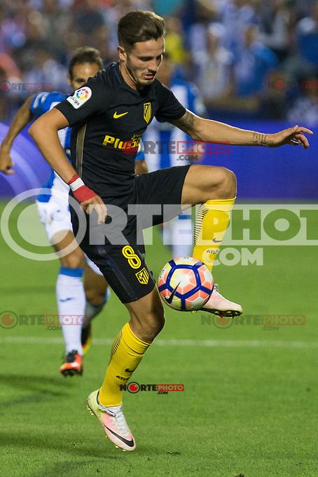 Atletico de Madrid's Saul Iniguez during the match of La Liga between Club Deportivo Leganes and Atletico de Madrid at Butarque Estadium in Leganes. August 27, 2016. (ALTERPHOTOS/Rodrigo Jimenez) /NORTEPHOTO