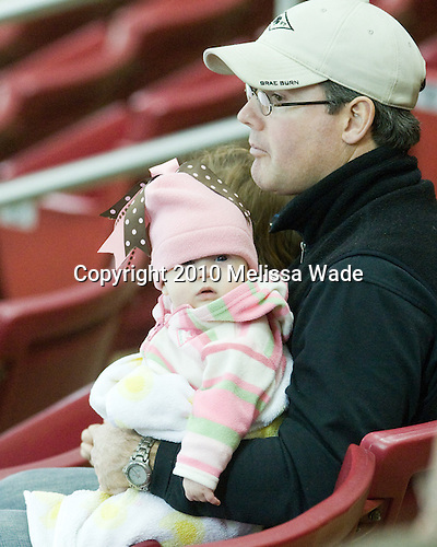 Starting them early - future hockey star? - The Boston College Eagles defeated the visiting Harvard University Crimson 6-2 on Sunday, December 5, 2010, at Conte Forum in Chestnut Hill, Massachusetts.