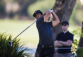 9th February 2018, Lake Karrinyup Country Club, Karrinyup, Australia; ISPS HANDA World Super 6 Perth golf, second round; Thorbjorn Olesen (DEN) drives the ball