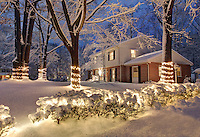 A snow covered home at 2926 Idlewood Drive in Charlottesville, VA. Photo/Andrew Shurtleff