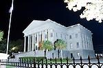 Charleston United States Custom House South Carolina at night