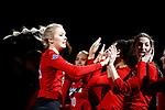 KANSAS CITY, KS - DECEMBER 14: Lauren Stivrins #26 of the University of Nebraska is introduced prior to the Division I Women's Volleyball Semifinals held at Sprint Center on December 14, 2017 in Kansas City, Missouri. (Photo by Tim Nwachukwu/NCAA Photos via Getty Images)