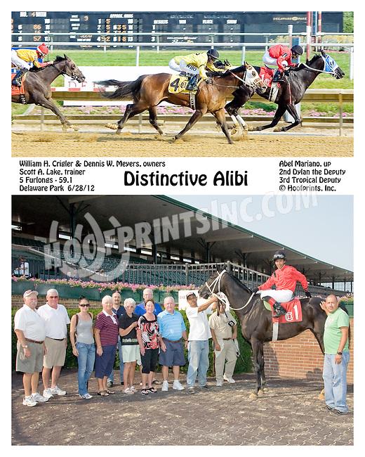 Distinctive Alibi winning Delaware Park on 6/28/12