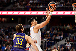 Real Madrid's Gustavo Ayon and FC Barcelona Lassa's Stratos Perperoglou duringTurkish Airlines Euroleague match between Real Madrid and FC Barcelona Lassa at Wizink Center in Madrid, Spain. March 22, 2017. (ALTERPHOTOS/BorjaB.Hojas)