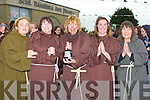 HOPING: Hoping their parayers will be answered at the most monks in one place at Ardfert NS on Saturday evening, l-r: Catherine O'Halloran, Grace Egan, Lynda Baker, Grainne Costello and Sonia Elston.