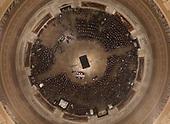 Palebearers carry the casket of Former President George H. W. Bush into the U.S. Capitol Rotunda Monday, Dec. 3, 2018, in Washington. (Pool photo by Morry Gash via AP)
