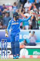 Ravindra Jadeja (India)acknowledges his half century during India vs New Zealand, ICC World Cup Warm-Up Match Cricket at the Kia Oval on 25th May 2019