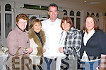 CELEBRITY CHEF: Celebrity Chef Kevin Dundon with some his fans from Tralee at the Garvey's Food Fair at the Earl of Desmond hotel on Friday l-r: Eileen Molloy, Frances Moriarty, Kevin Dundon, Marian Carroll and Tina Ryan.