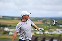 Stephen Watts (Cairndhu) on the 9th tee during Matchplay Round 1 of the South of Ireland Amateur Open Championship at LaHinch Golf Club on Friday 22nd July 2016.<br /> Picture:  Golffile | Thos Caffrey<br /> <br /> All photos usage must carry mandatory copyright credit   (© Golffile | Thos Caffrey)