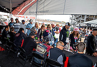 Jul. 27, 2013; Sonoma, CA, USA: NHRA Team Toyota drivers at an autograph session during qualifying for the Sonoma Nationals at Sonoma Raceway. Mandatory Credit: Mark J. Rebilas-