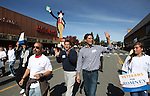 Lt. Gov. Brian Krolicki and Josh Romney walk in the Nevada Day parade in Carson City, Nev. on Saturday, Oct. 27, 2012. .Photo by Cathleen Allison